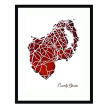 Load image into Gallery viewer, County DOWN - Papercut map - Designed Imagined Made in Ireland