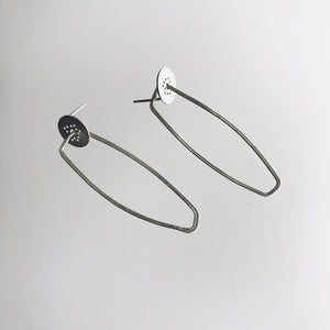 Line Earrings Sterling Silver - Line Collection, Made in Ireland