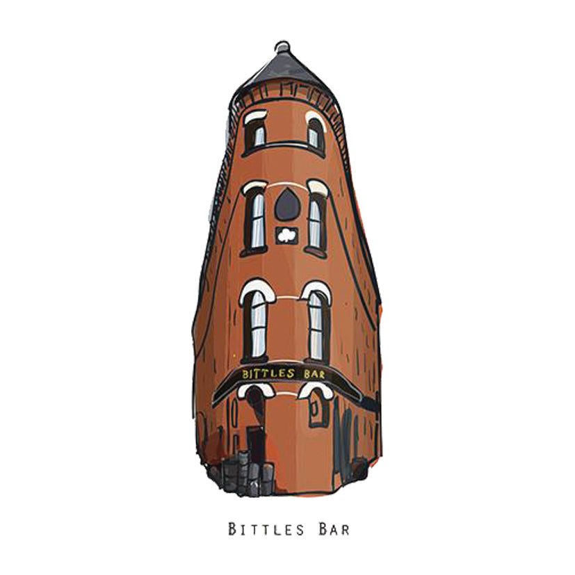 BITTLES BAR - Belfast Pub Print - Made in Ireland