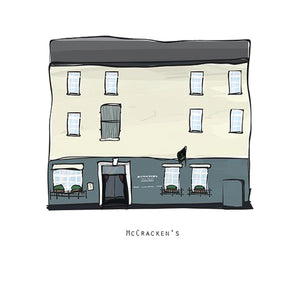 MCCRACKEN'S - Belfast Pub Print - Made in Ireland