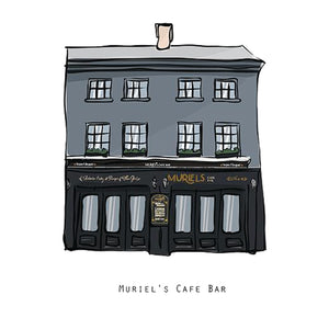 MURIEL'S CAFE BAR - Belfast Pub Print - Made in Ireland