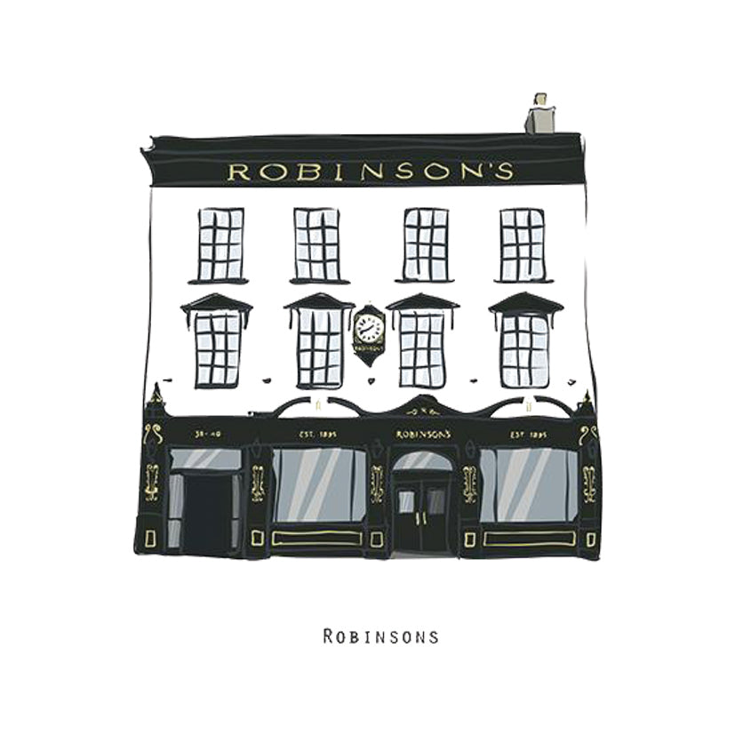 ROBINSONS - Belfast Pub Print - Made in Ireland
