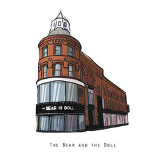 Load image into Gallery viewer, THE BEAR AND THE DOLL - Belfast Pub Print - Made in Ireland
