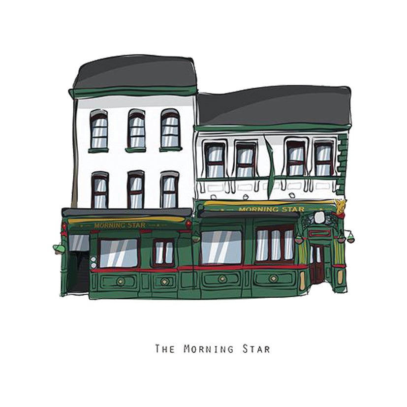 The MORNING STAR - Belfast Pub Print - Made in Ireland