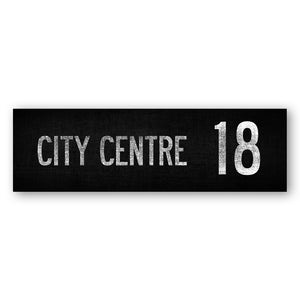 CITY CENTRE 18 - Belfast Canvas Co. Your Own Personal Journey - Belfast Bus Sign Route
