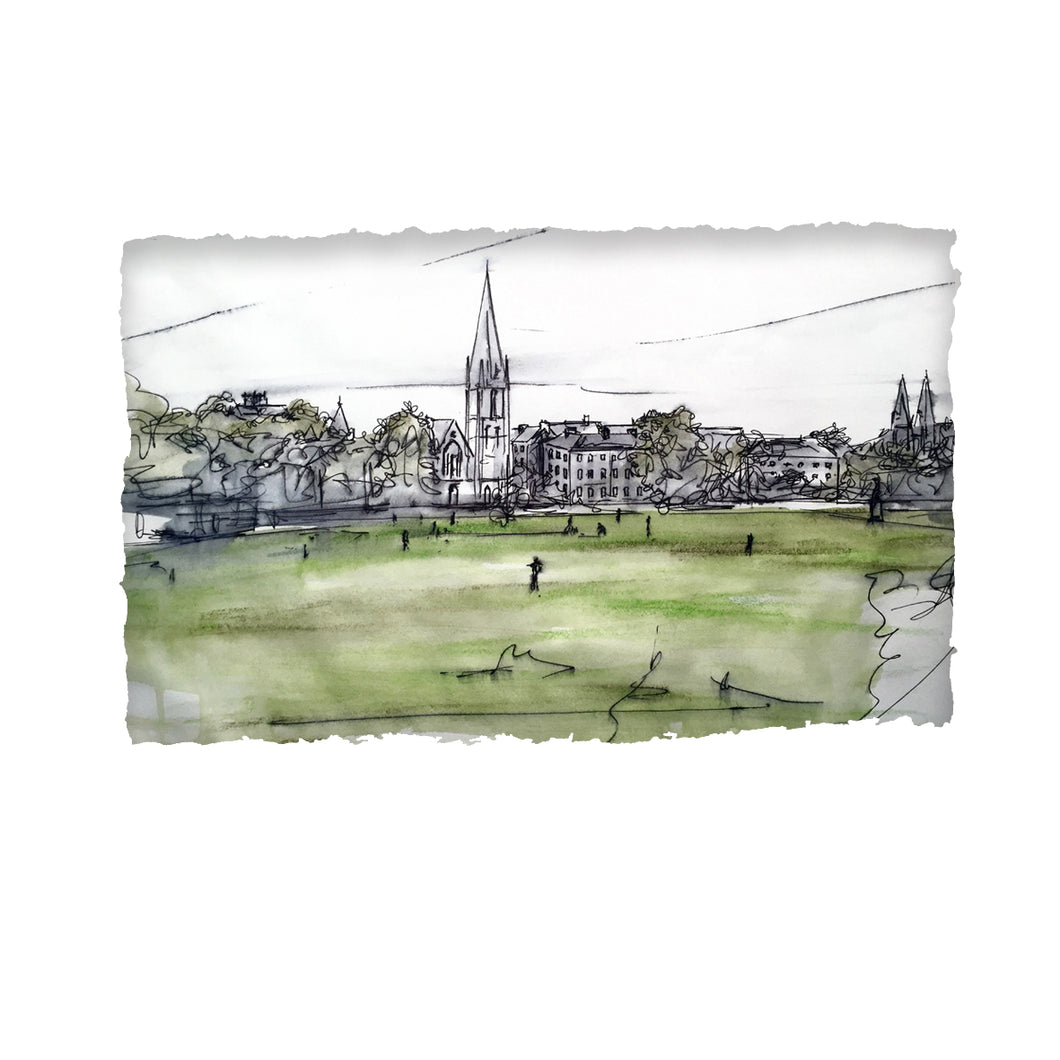 CRICKET ON THE MALL -  Club Ground County Armagh by Stephen Farnan