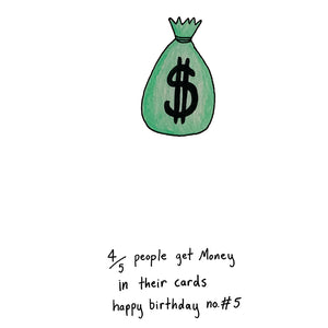 4/5 People Get Money in Their Cards, Happy Birthday #5