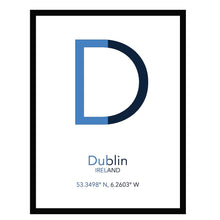 Load image into Gallery viewer, DUBLIN County Flag - Contemporary County Co-ordinates Prints
