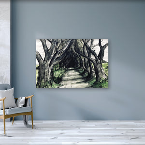 THE DARK HEDGES - Road to Kings Landing County Antrim by Stephen Farnan