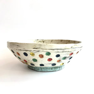 Large SERVING BOWL - Polka Dot by Deirdre Kerrigan Ceramics Handmade in Ireland
