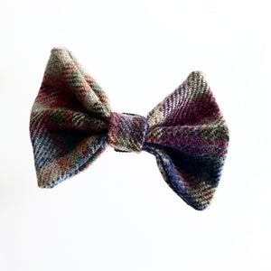PINKISH MULTICOLOURED DOG DICKIE BOW - Made in Ireland