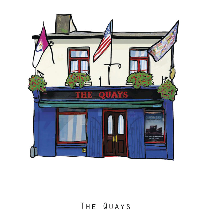 The QUAYS - Galway Pub Print - Made in Ireland