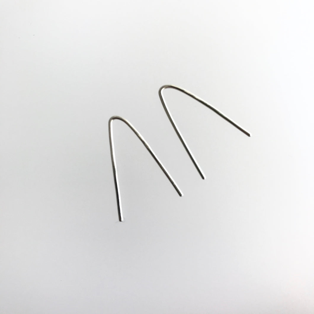 'Origin' EARRINGS V Bar - Sterling Silver Contemporary Irish Jewellery