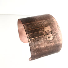Load image into Gallery viewer, Copper Etched Traffic New York Cuff - by Ghost & Bonesetter - Made in Belfast
