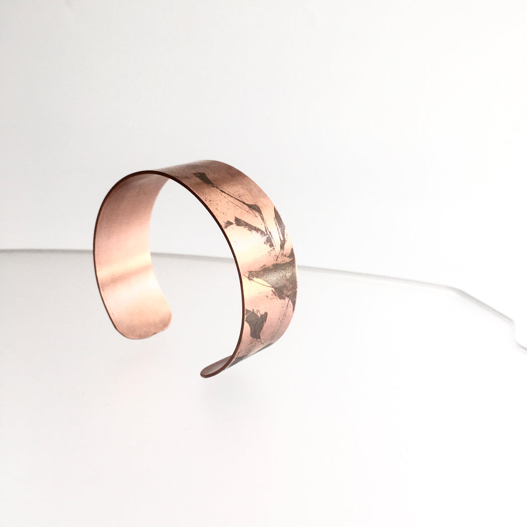 Copper Etched Connemara Cuff - by Ghost & Bonesetter - Made in Belfast