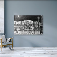 Load image into Gallery viewer, HA'PENNY BRIDGE BY NIGHT - Iconic River Liffey Footbridge County Dublin by Stephen Farnan