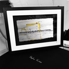 Load image into Gallery viewer, HARLAND & WOLFF - The Cranes Shipyard Samson Goliath County Antrim by Stephen Farnan