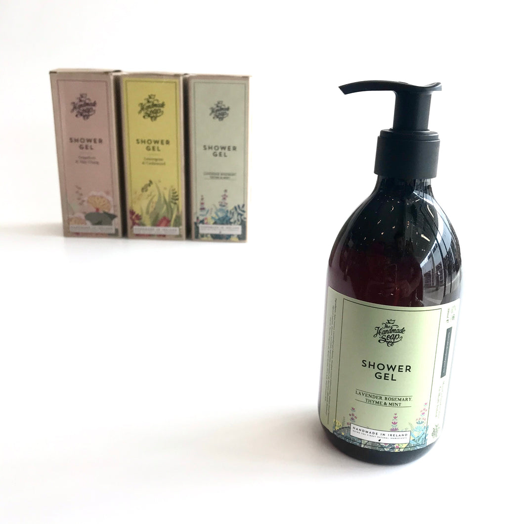 Lavender, Rosemary- Thyme & Mint Shower Gel - Handmade in Ireland