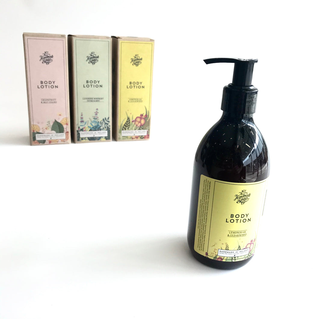 Body LOTION - Lemongrass & Cedarwood - Handmade in Ireland