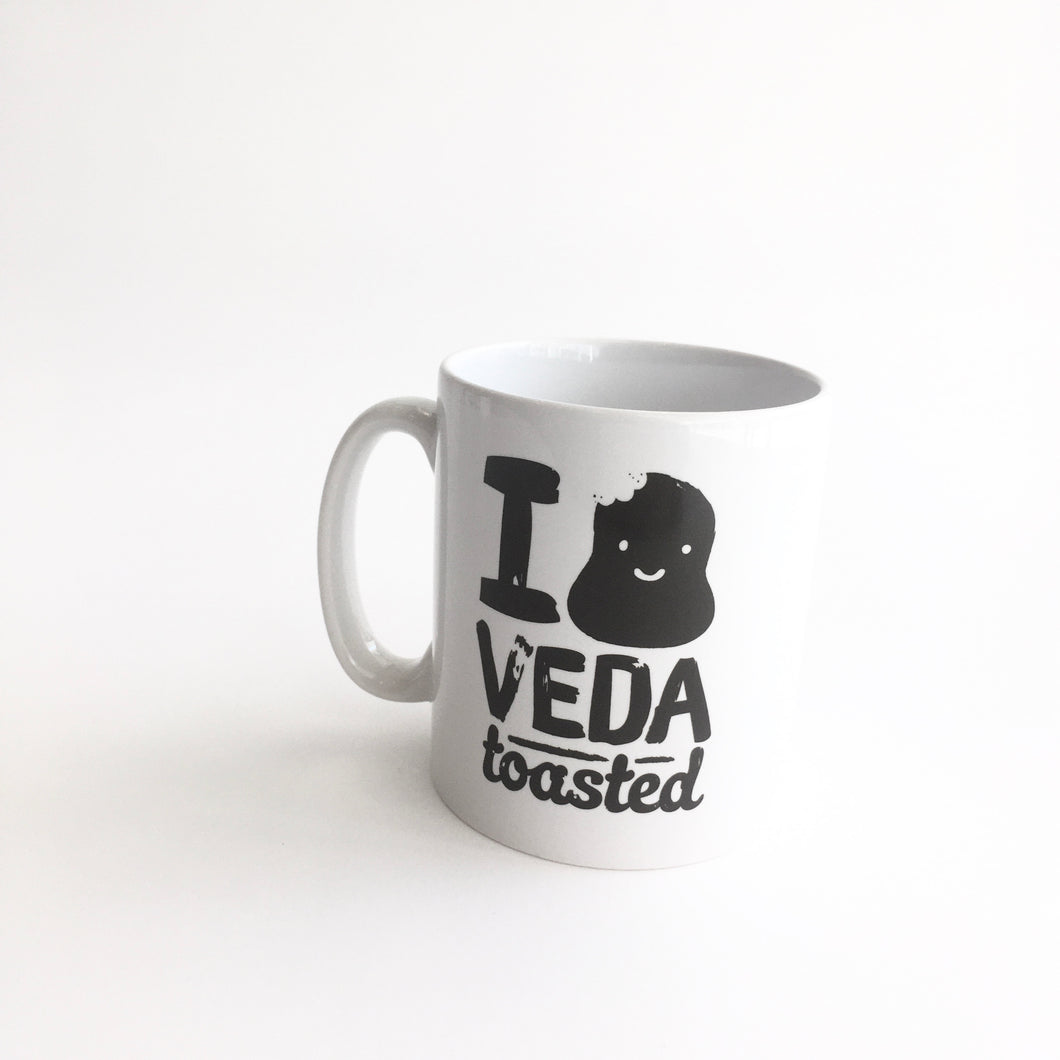 I Love VEDA Toasted - Mug Made in Belfast by Tea and Toast