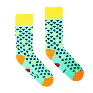 LOVE IS LOVE - Mainly Green - Single pair of Girls socks