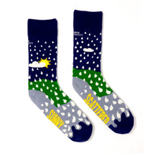 Load image into Gallery viewer, SUNNY SPELLS AND SCATTERED SHOWERS - Funny Irish Socks Made in Ireland