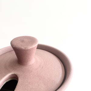 BABY PINK - Sugar Bowl - Hand Thrown Contemporary Irish Pottery