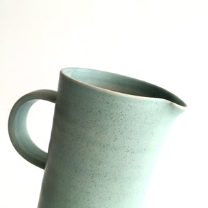 IRISH GREEN - Tall Handled Jug - Hand Thrown Contemporary Irish Pottery