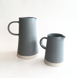 CONICAL JUG - Soft Grey - Handled - Hand Thrown Contemporary Irish Pottery