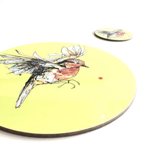 ROBIN - Placemat / Coaster - Yellow