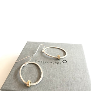 DRIFT Oval Drops Earrings with Gold Plate