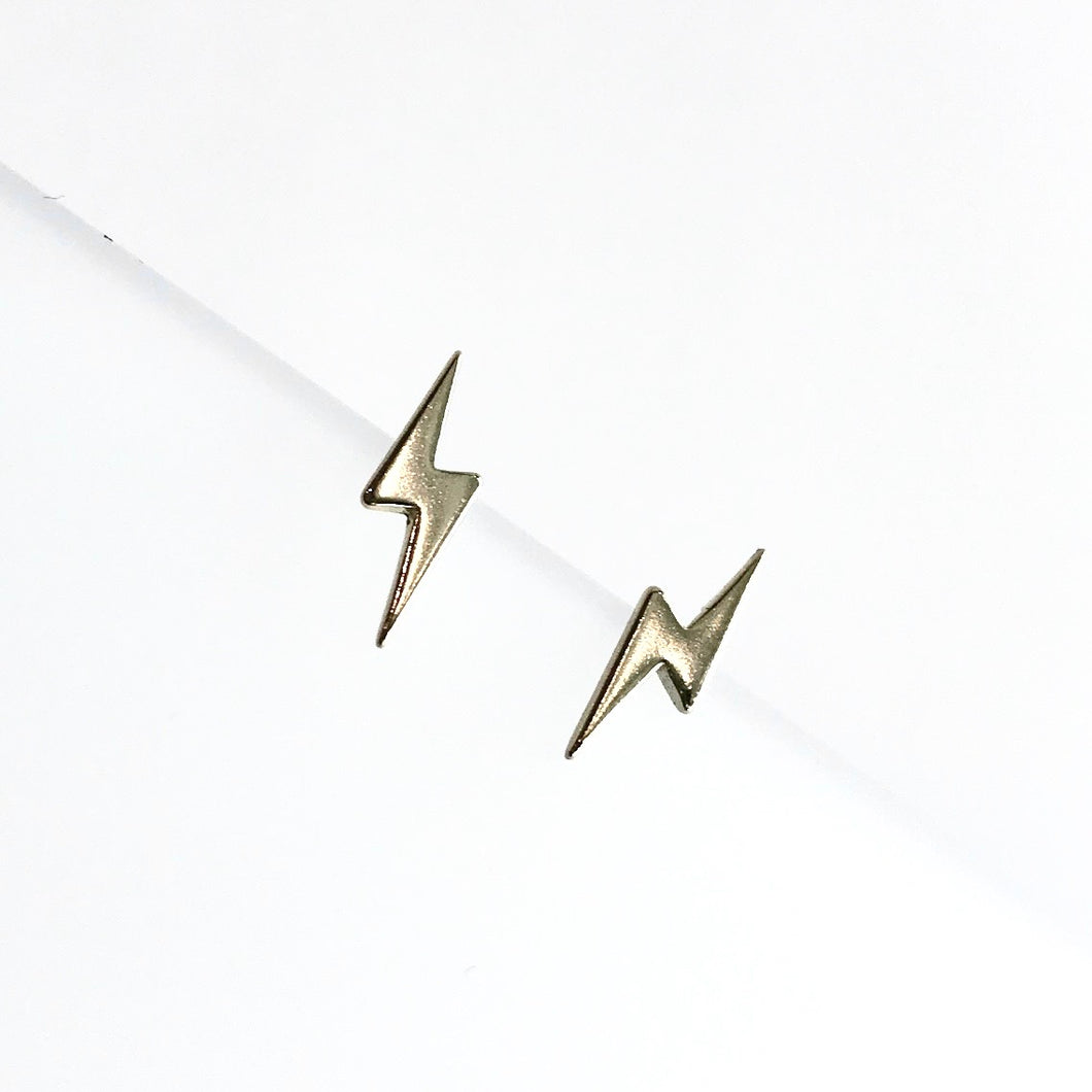 BOLT - Earrings Gold Vermeil - Designed, Imagined, Made in Ireland