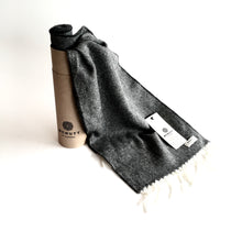 Load image into Gallery viewer, Charcoal Lambswool Scarf - Made in Donegal Ireland