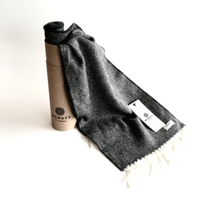 Charcoal Lambswool Scarf - Made in Donegal Ireland