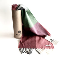 Load image into Gallery viewer, Green Smoke Lambswool Scarf - Made in Donegal Ireland