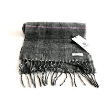 Load image into Gallery viewer, Grey Check Lambswool Scarf - Made in Donegal Ireland