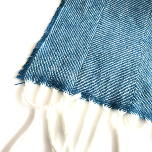 Kingfisher Herringbone - Lambswool Scarf - Made in Donegal Ireland