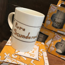 Load image into Gallery viewer, PURE SCUNDERED  - Belfast - Slang - humorous - bone - china - mug