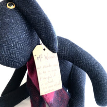 Load image into Gallery viewer, Mr Woods - Handmade Teddy Hare - Looking for a new home!