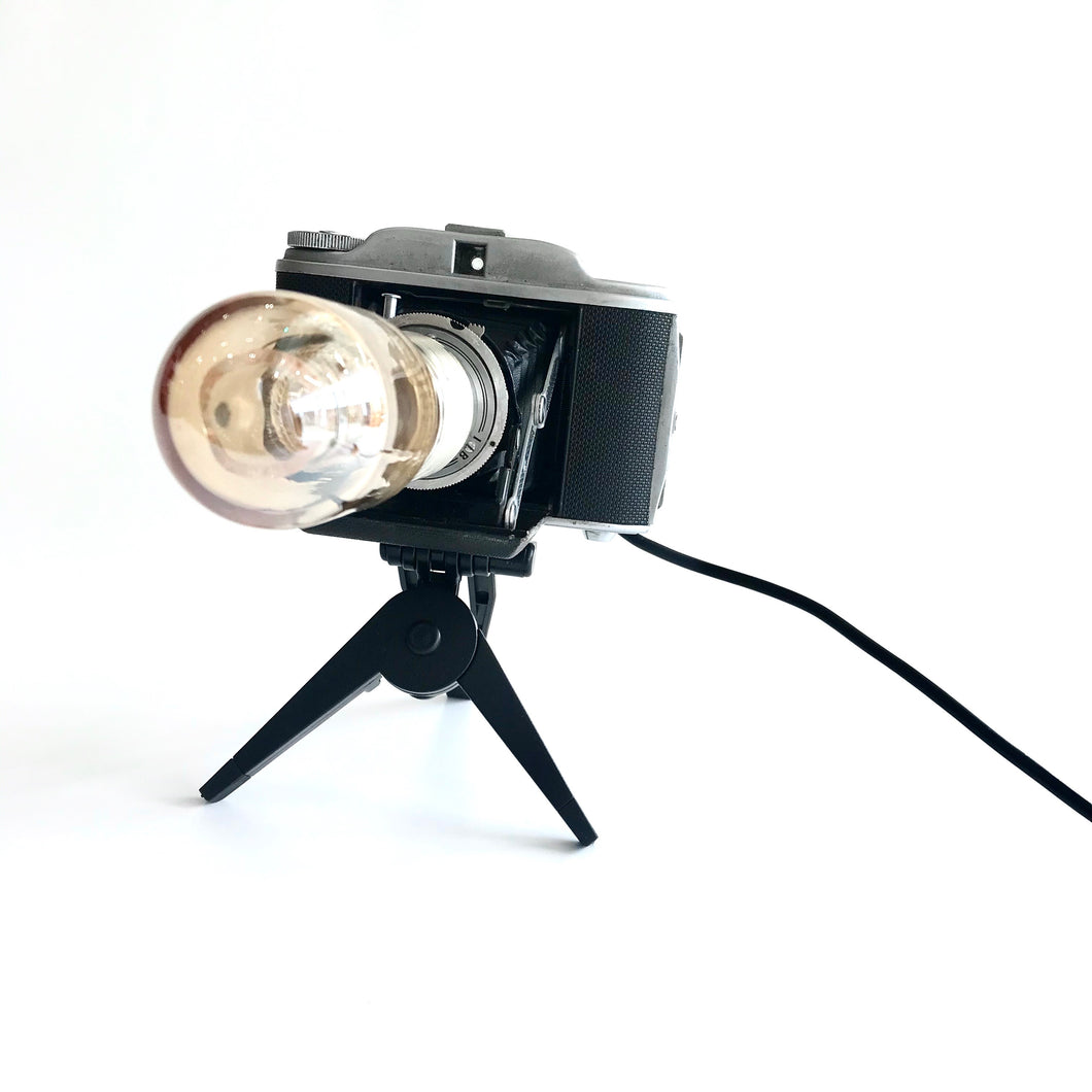 BELLOWS RETRO TABLE LAMP with Tripod - Re-imagined Vintage Objects by RETRO Lighting