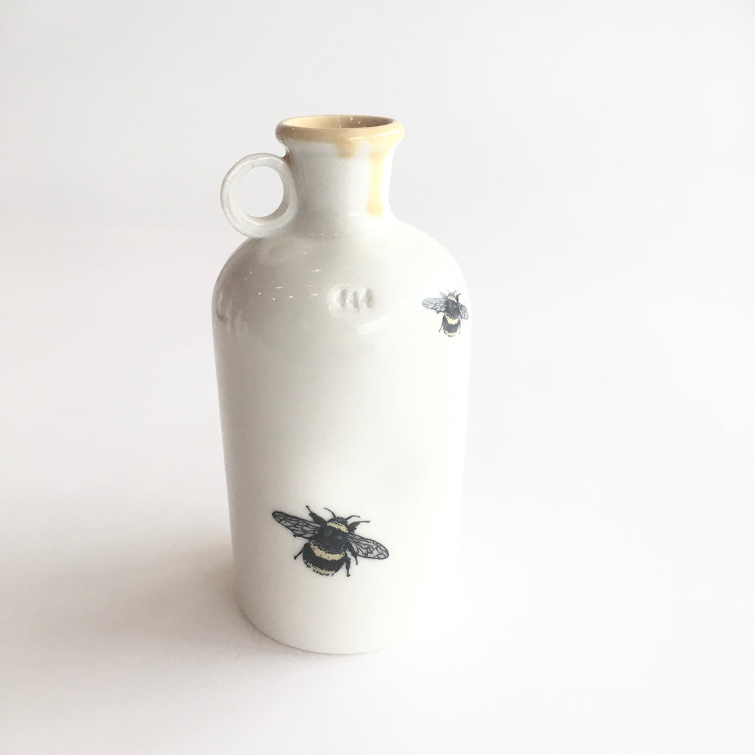 Bee Porcelain Jar Vase - Made in Belfast