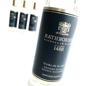 DUBLIN DUSK - Reed Diffuser - Smoked Oud + Ozonic Accords - Made in Ireland
