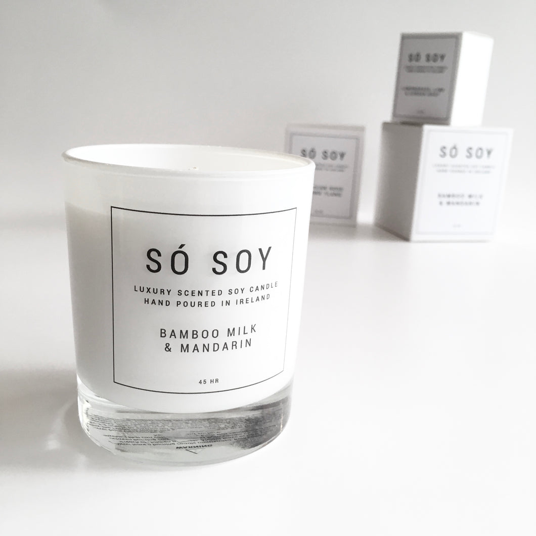 BAMBOO MILK & MANDARIN Candle - SÓ SOY - Made in Ireland