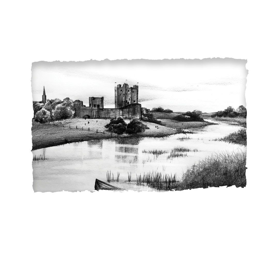 TRIM CASTLE - Norman Castle River Boyne County Meath by Stephen Farnan