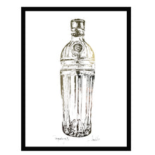 Load image into Gallery viewer, TANQUERAY Gin Bottle - Stunning Metallic Art
