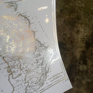 ANTRIM MAP - Stunning Metallic Art