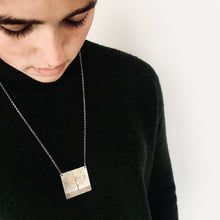 Load image into Gallery viewer, Silver Etched Tree Pendant Necklace - Made in Belfast