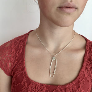 Line Pendant - Sterling Silver Line Collection, Made in Ireland
