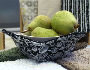 Eco-Friendly Microwave Cozies. Handmade Locally at Crocus Lane.