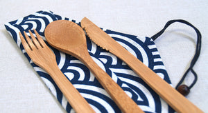 Bamboo Cutlery - Waves + Swirls